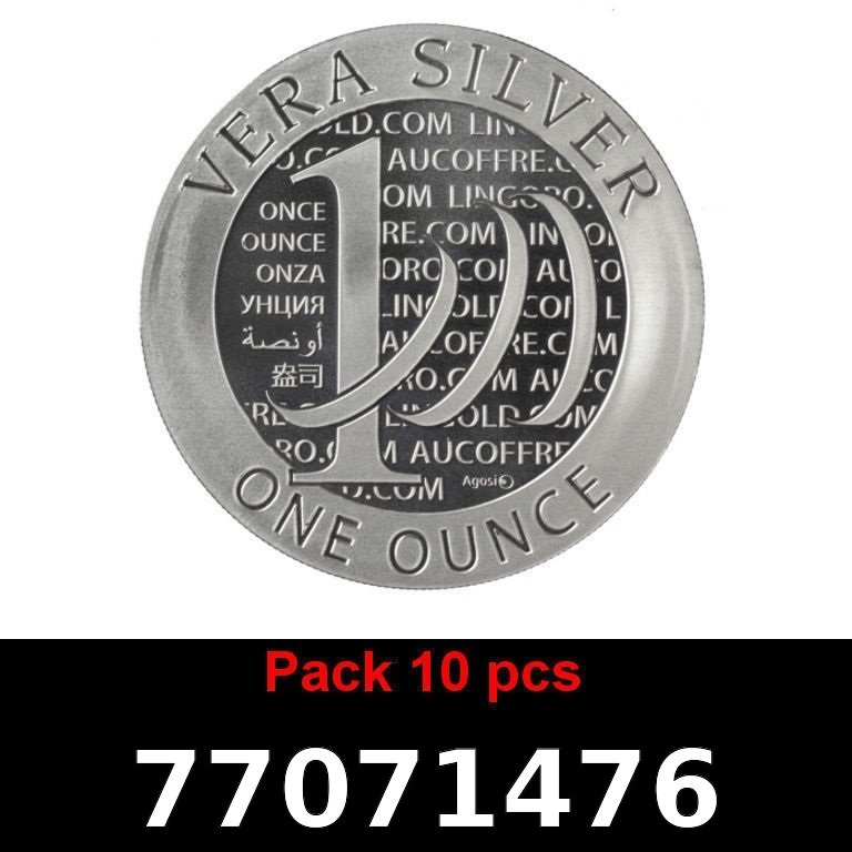 Réf. 77071476 Lot 10 Vera Silver 1 once (LSP)  2015 - 2eme type - AVERS