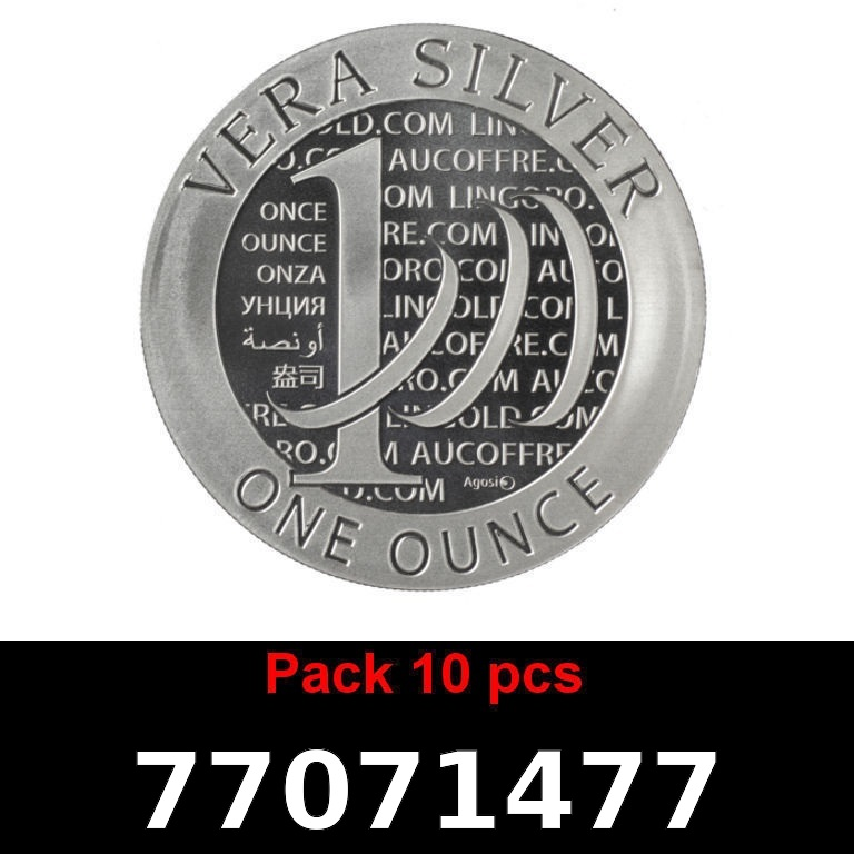 Réf. 77071477 Lot 10 Vera Silver 1 once (LSP)  2015 - 2eme type - AVERS