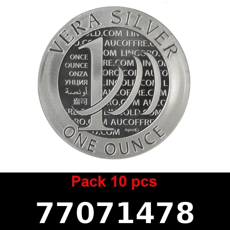 Réf. 77071478 Lot 10 Vera Silver 1 once (LSP)  2015 - 2eme type - AVERS