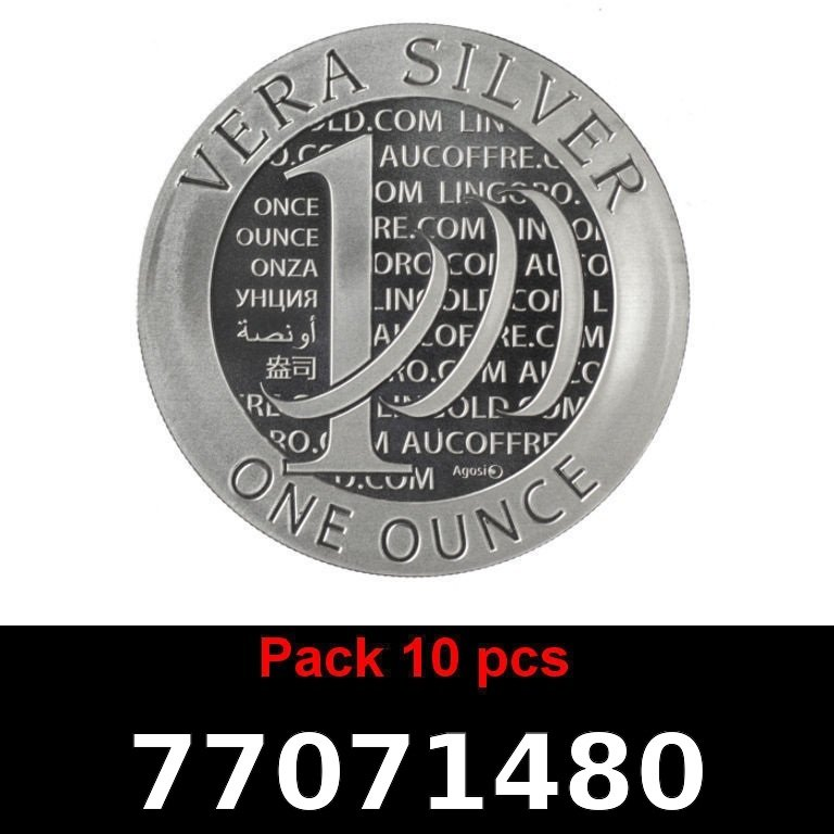 Réf. 77071480 Lot 10 Vera Silver 1 once (LSP)  2015 - 2eme type - AVERS