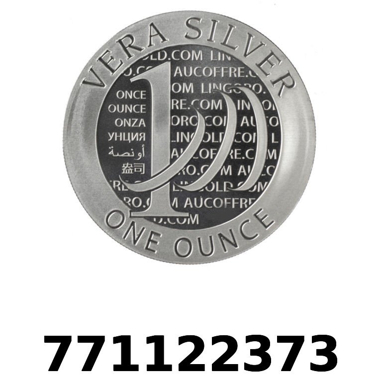 Réf. 771122373 Vera Silver 1 once (LSP)  2015 - 2eme type - AVERS