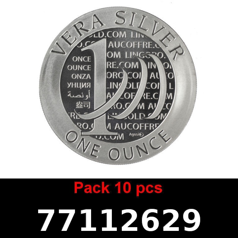 Réf. 77112629 Lot 10 Vera Silver 1 once (LSP)  2015 - 2eme type - AVERS