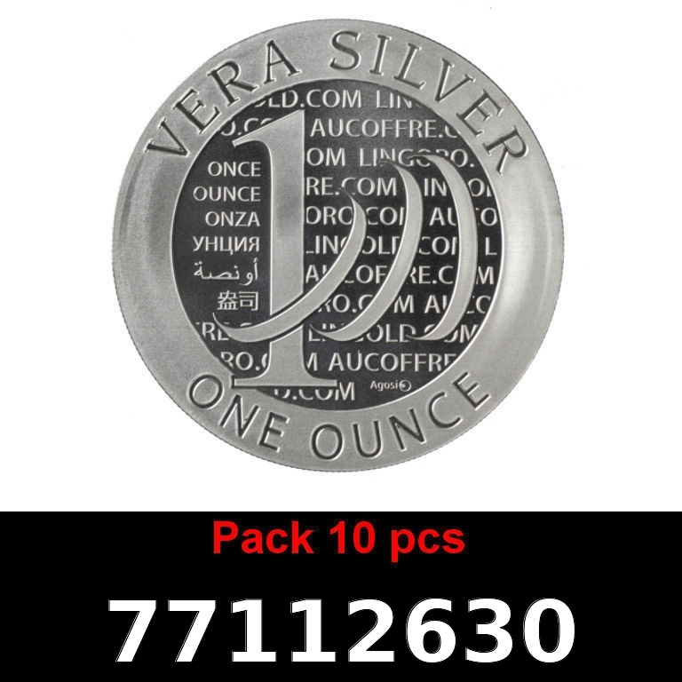 Réf. 77112630 Lot 10 Vera Silver 1 once (LSP)  2015 - 2eme type - AVERS