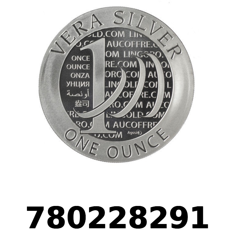 Réf. 780228291 Vera Silver 1 once (LSP)  2015 - 2eme type - AVERS