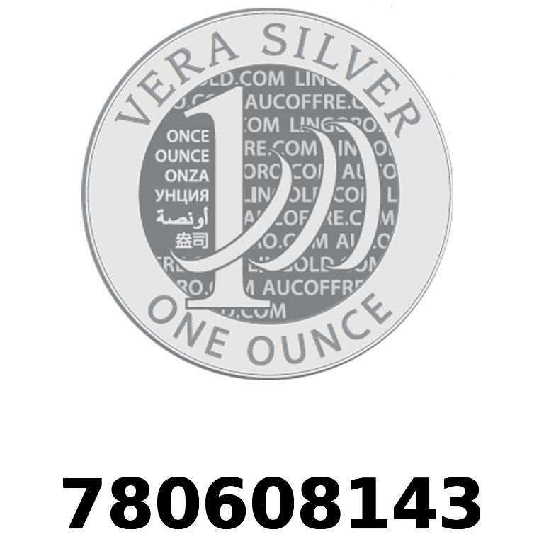 Réf. 780608143 Vera Silver 1 once (LSP)  2018 - AVERS