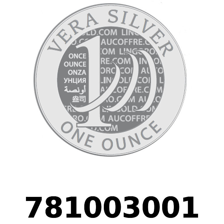Réf. 781003001 Vera Silver 1 once (LSP)  2018 - AVERS