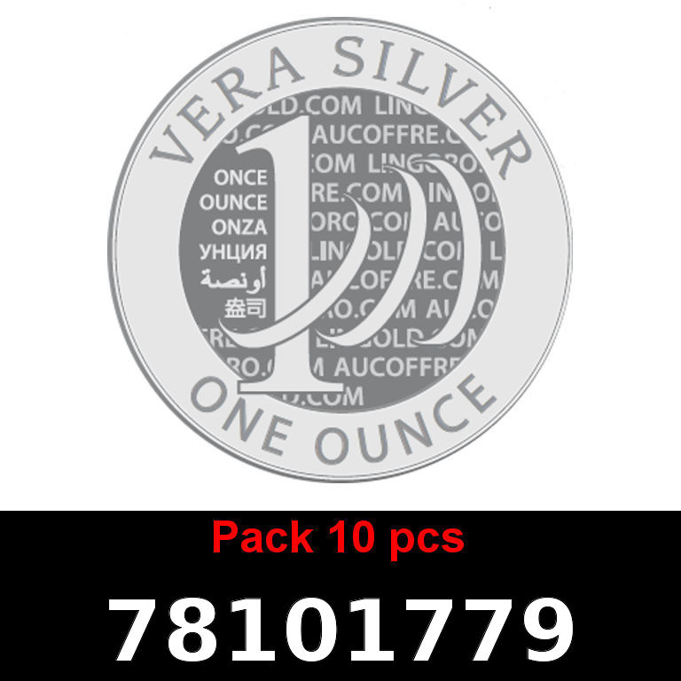 Réf. 78101779 Lot 10 Vera Silver 1 once (LSP)  2018 - AVERS