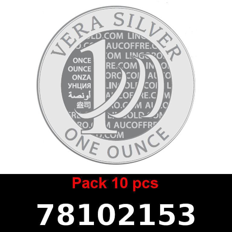 Réf. 78102153 Lot 10 Vera Silver 1 once (LSP)  2018 - AVERS