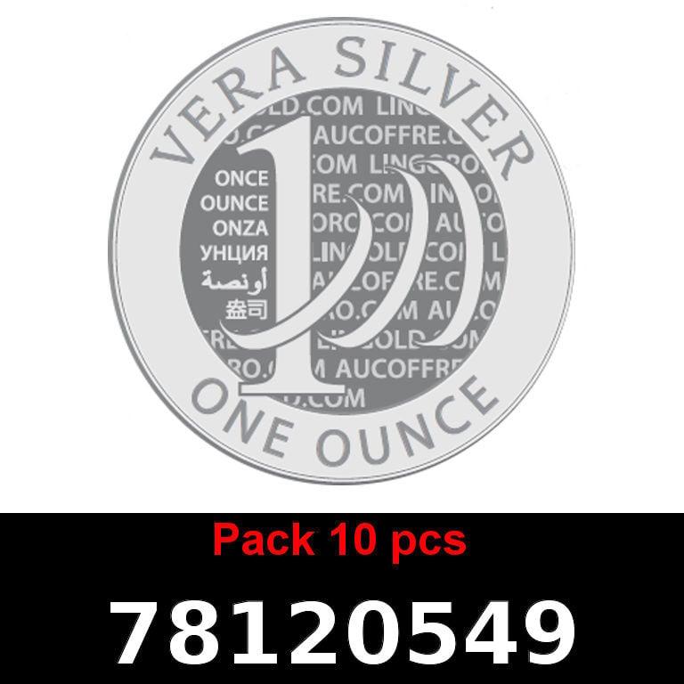 Réf. 78120549 Lot 10 Vera Silver 1 once (LSP)  2018 - AVERS