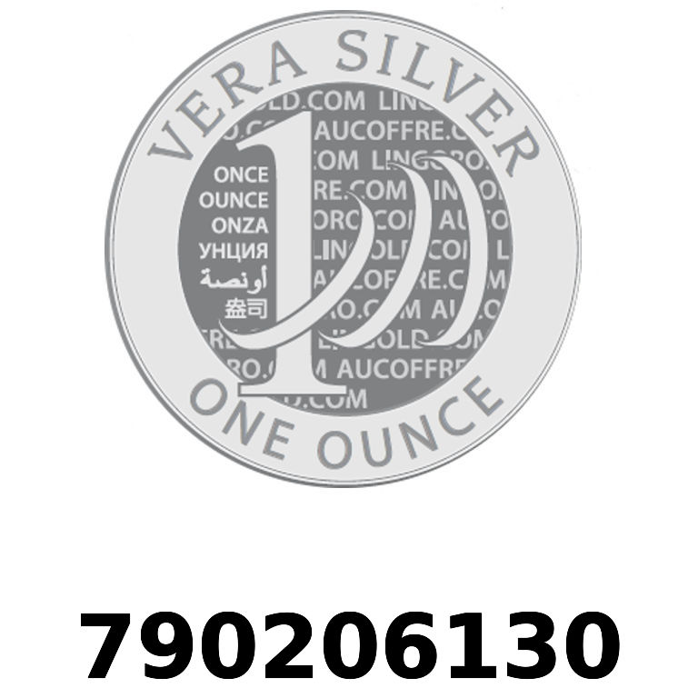 Réf. 790206130 Vera Silver 1 once (LSP)  2018 - AVERS