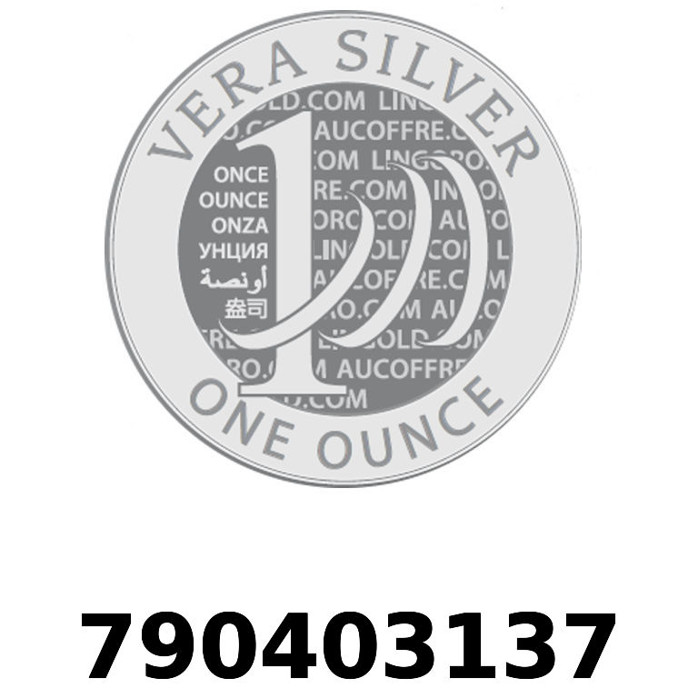 Réf. 790403137 Vera Silver 1 once (LSP)  2018 - AVERS