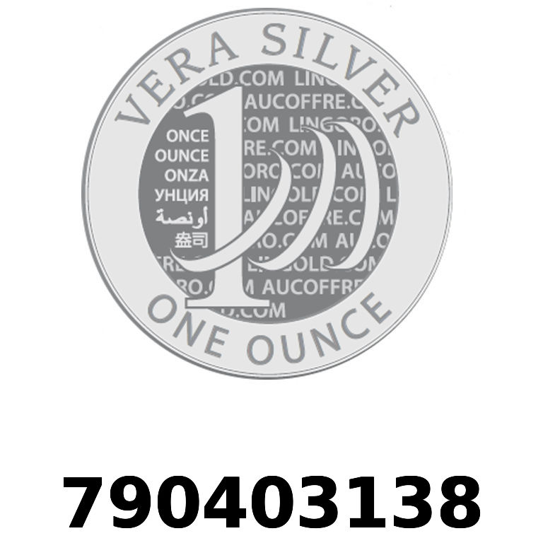 Réf. 790403138 Vera Silver 1 once (LSP)  2018 - AVERS