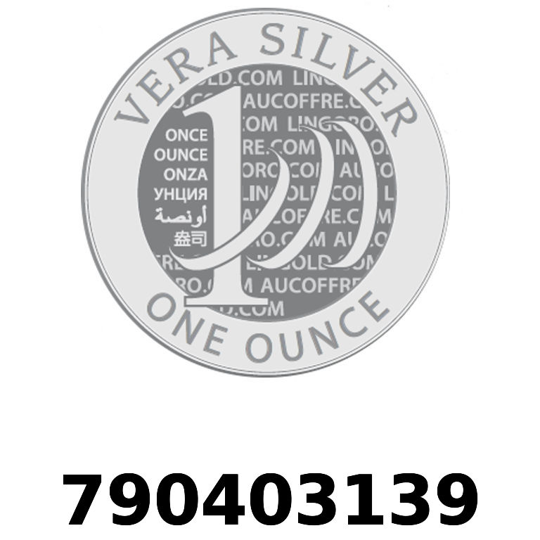 Réf. 790403139 Vera Silver 1 once (LSP)  2018 - AVERS