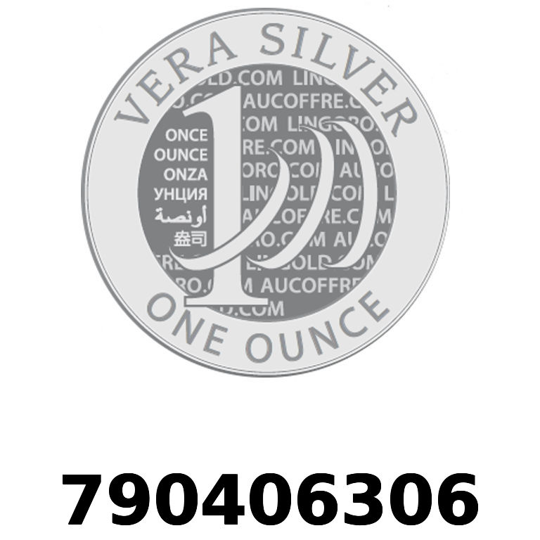 Réf. 790406306 Vera Silver 1 once (LSP)  2018 - AVERS
