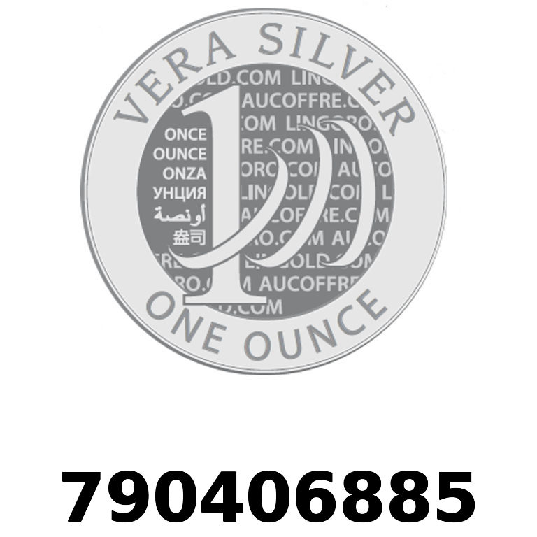 Réf. 790406885 Vera Silver 1 once (LSP)  2018 - AVERS