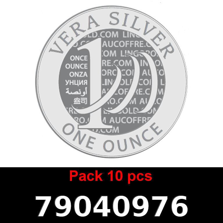 Réf. 79040976 Lot 10 Vera Silver 1 once (LSP)  2018 - AVERS