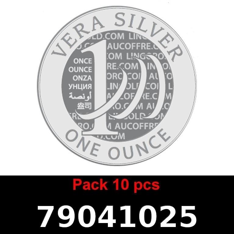 Réf. 79041025 Lot 10 Vera Silver 1 once (LSP)  2018 - AVERS