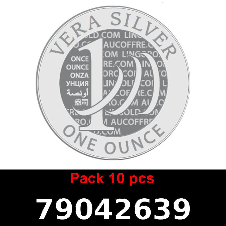 Réf. 79042639 Lot 10 Vera Silver 1 once (LSP)  2018 - AVERS