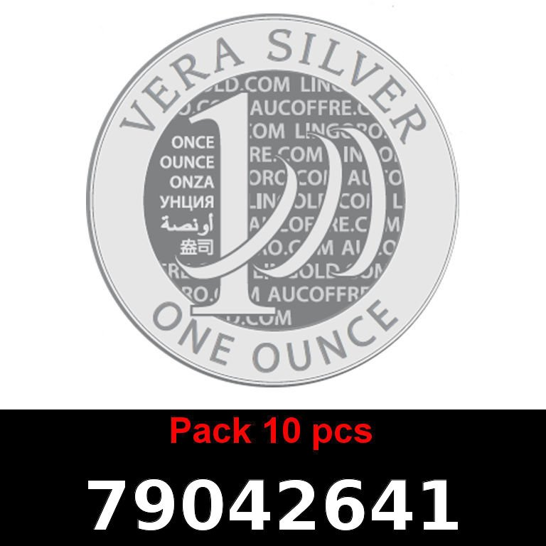 Réf. 79042641 Lot 10 Vera Silver 1 once (LSP)  2018 - AVERS