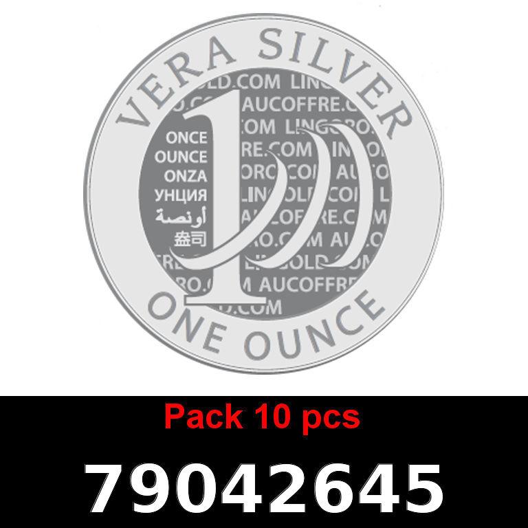 Réf. 79042645 Lot 10 Vera Silver 1 once (LSP)  2018 - AVERS