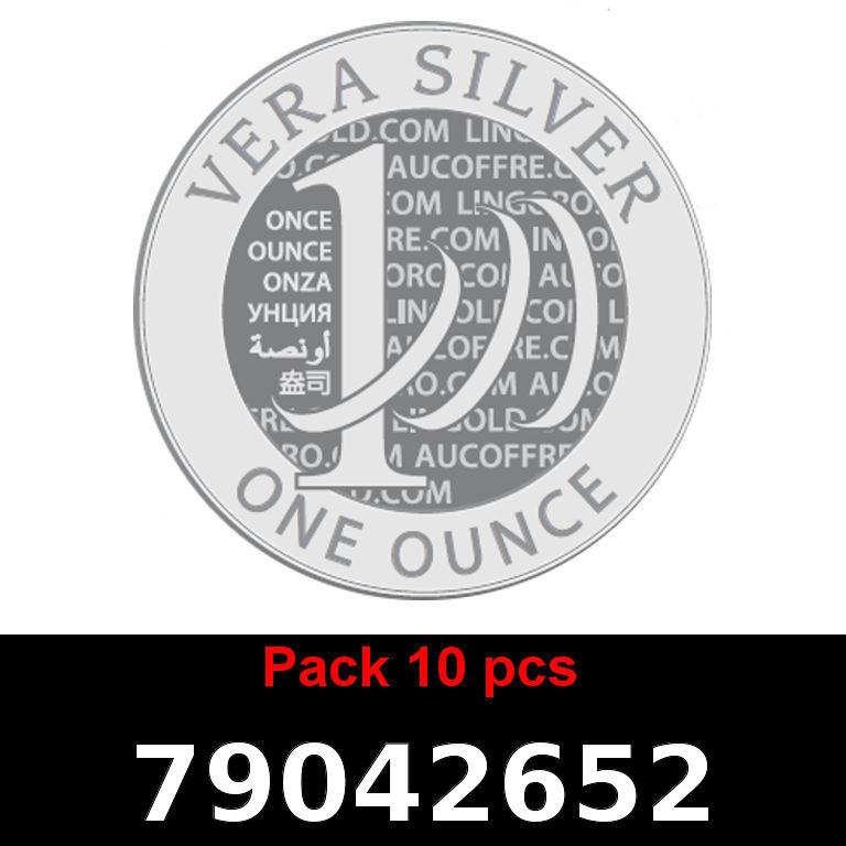 Réf. 79042652 Lot 10 Vera Silver 1 once (LSP)  2018 - AVERS