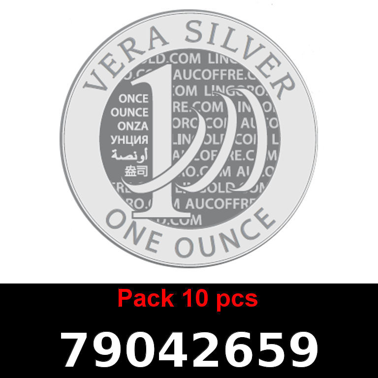 Réf. 79042659 Lot 10 Vera Silver 1 once (LSP)  2018 - AVERS