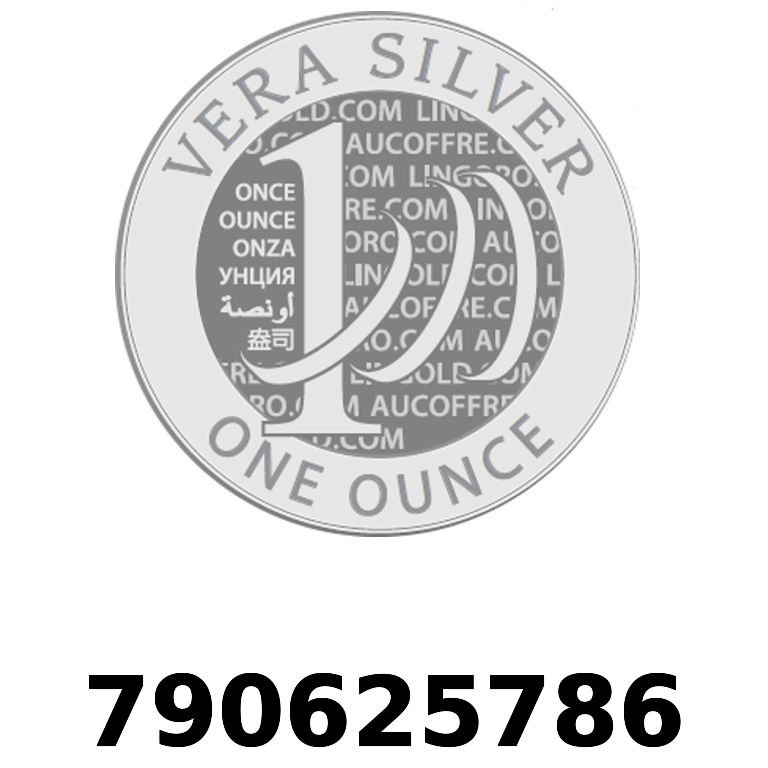 Réf. 790625786 Vera Silver 1 once (LSP - 40MM)  2018 - AVERS