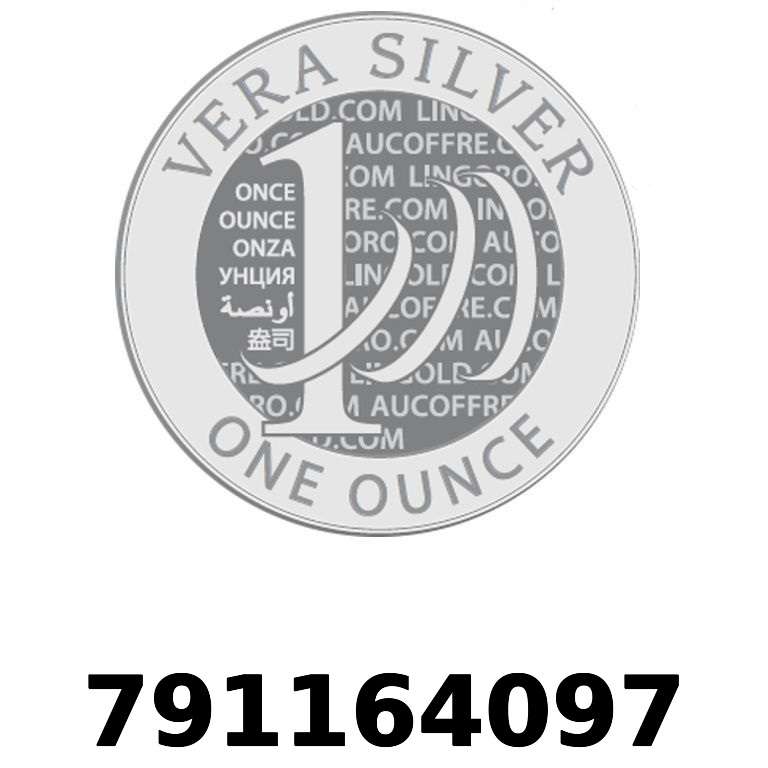 Réf. 791164097 Vera Silver 1 once (LSP - 40MM)  2018 - AVERS