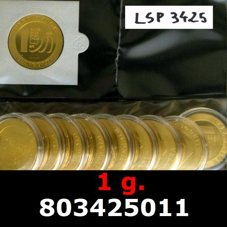 Réf. 803425011 1 gramme d\'or pur - Vera Valor (LSP)  Issu d un lot de 10 Vera Valor 1 once - AVERS
