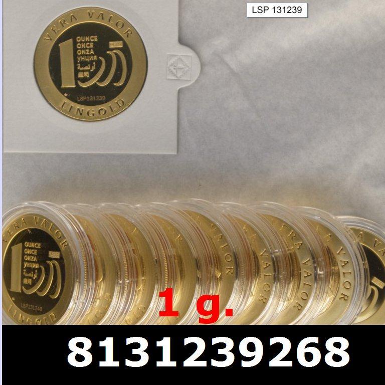 Réf. 8131239268 1 gramme d\'or pur - Vera Valor (LSP)  Issu d un lot de 10 Vera Valor 1 once - AVERS