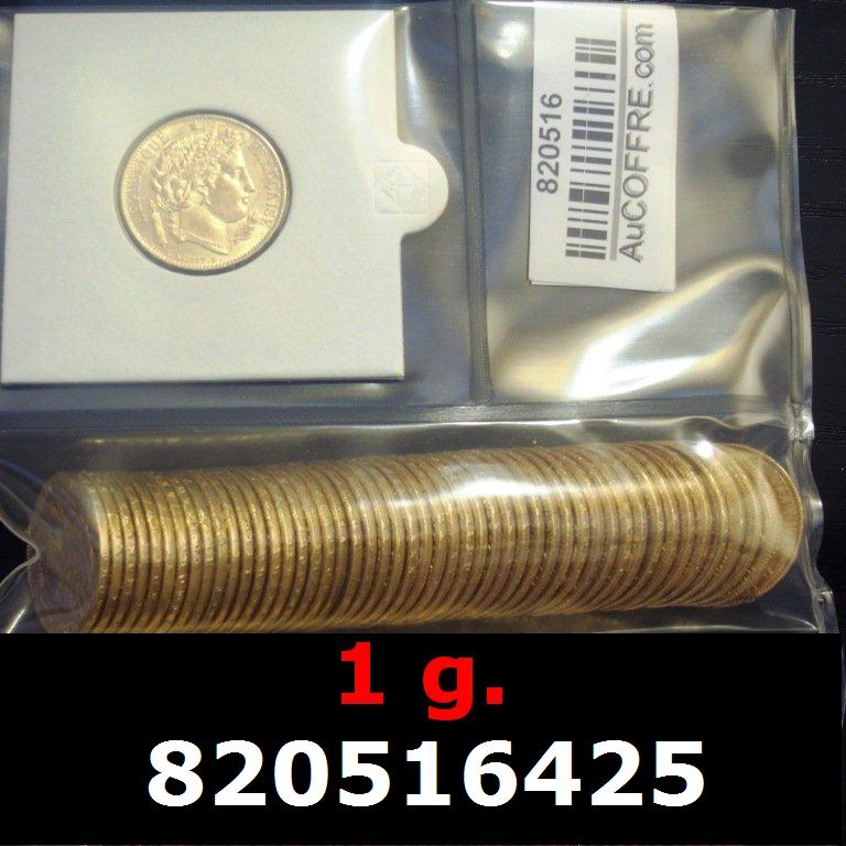 Réf. 820516425 1 gramme d\'or pur - Napoléon (LSP) 20 Francs Issu d un lot de 100 Cérès - AVERS