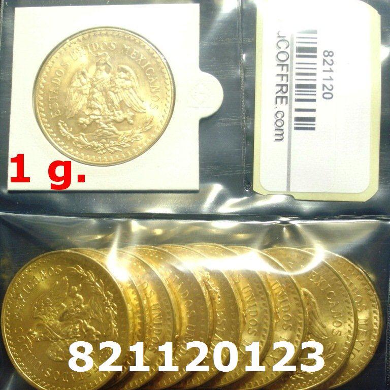 Réf. 821120123 1 gramme d\'or pur - 50 Pesos Mexique (LSP)  Issu d un lot de x10 50 Pesos - AVERS