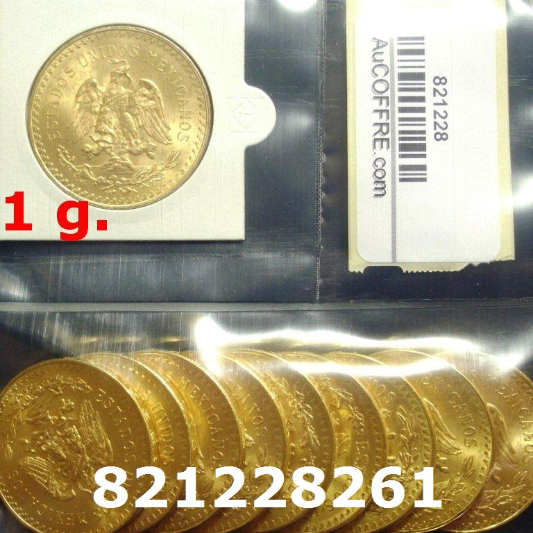 Réf. 821228261 1 gramme d\'or pur - 50 Pesos Mexique (LSP)  Issu d un lot de x10 50 Pesos - AVERS