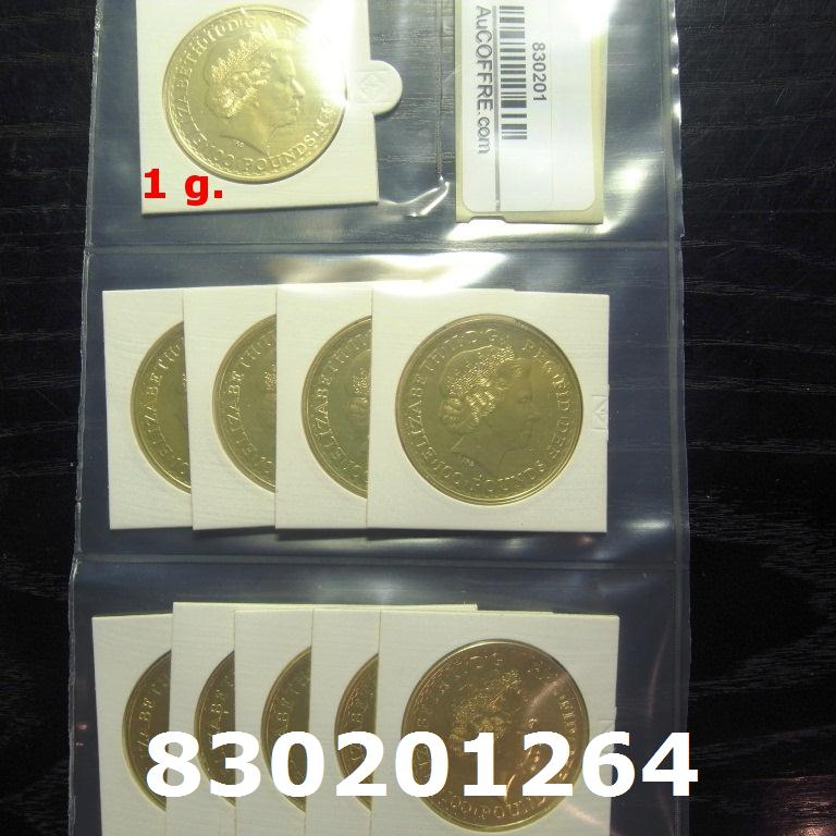 Réf. 830201264 1 gramme d\'or pur - Britannia (LSP)  Issu d un lot de 10 Britannia 1 once 9999 - AVERS