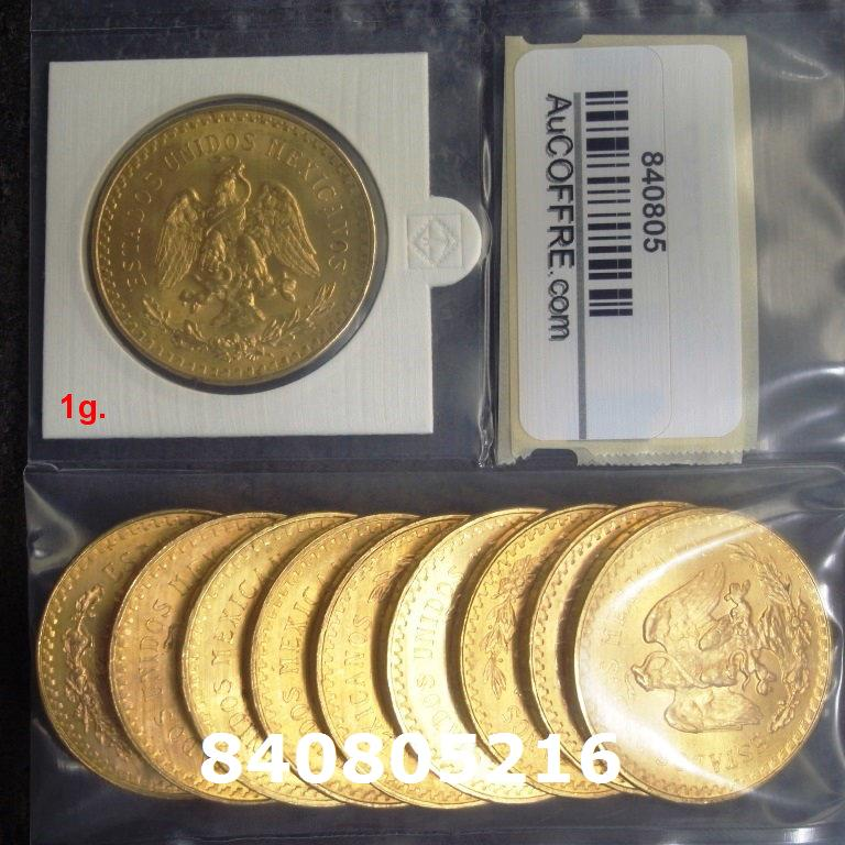 Réf. 840805216 1 gramme d\'or pur - 50 Pesos Mexique (LSP)  Issu d un lot de x10 50 Pesos - AVERS