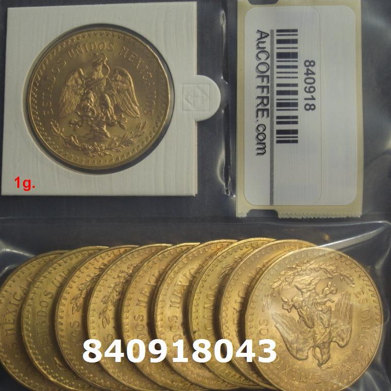 Réf. 840918043 1 gramme d\'or pur - 50 Pesos Mexique (LSP)  Issu d un lot de x10 50 Pesos - AVERS