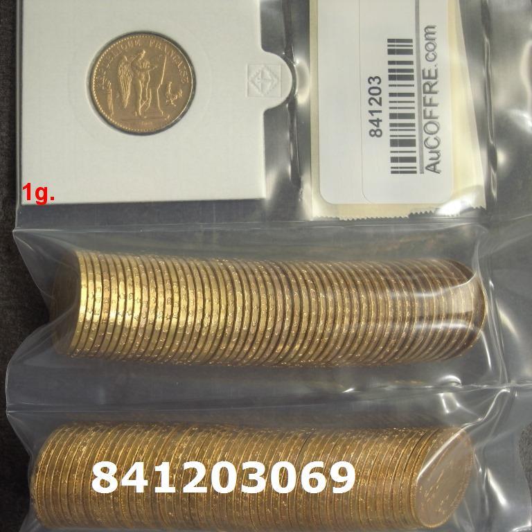 Réf. 841203069 1 gramme d\'or pur - Napoléon (LSP) 20 Francs Issu d un lot de 100 Génie IIIème République - AVERS