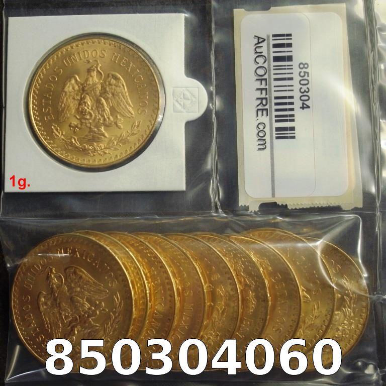 Réf. 850304060 1 gramme d\'or pur - 50 Pesos Mexique (LSP)  Issu d un lot de x10 50 Pesos - AVERS