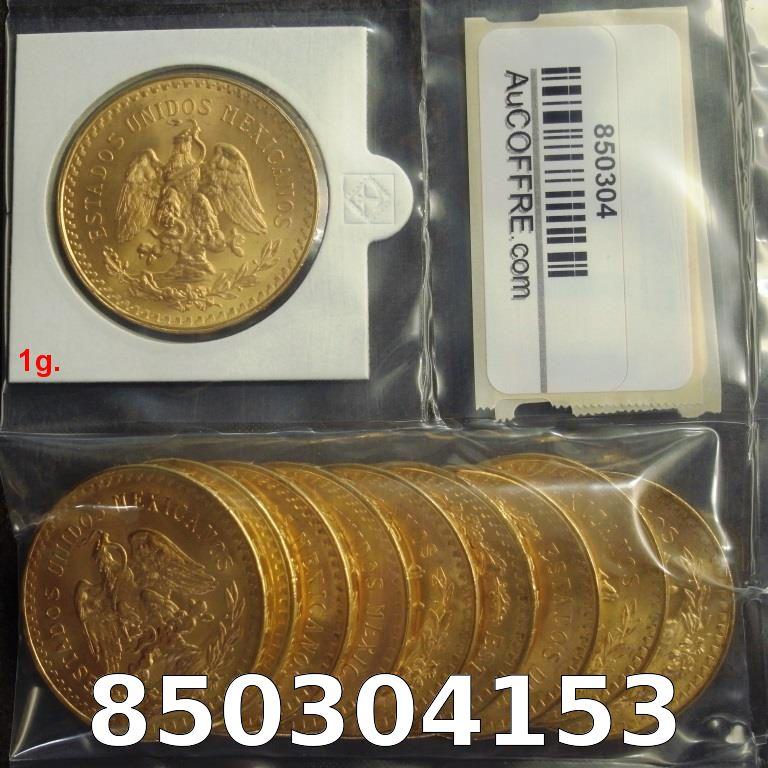 Réf. 850304153 1 gramme d\'or pur - 50 Pesos Mexique (LSP)  Issu d un lot de x10 50 Pesos - AVERS
