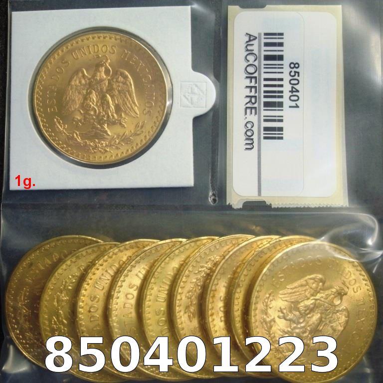 Réf. 850401223 1 gramme d\'or pur - 50 Pesos Mexique (LSP)  Issu d un lot de x10 50 Pesos - AVERS