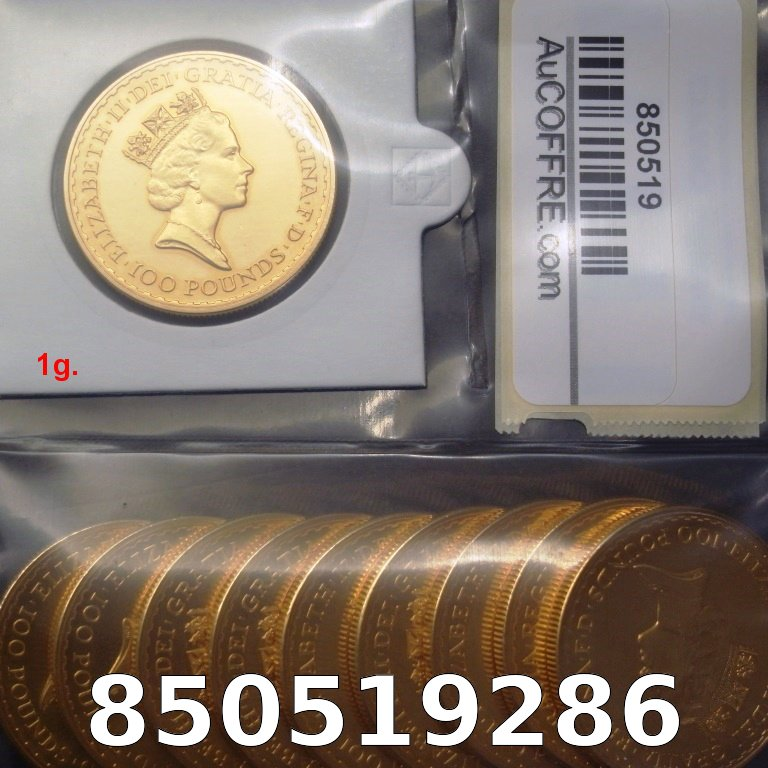 Réf. 850519286 1 gramme d\'or pur - Britannia (LSP)  Issu d un lot de 10 Britannia 1 once - AVERS