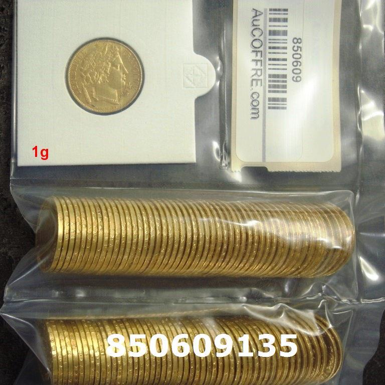 Réf. 850609135 1 gramme d\'or pur - Napoléon (LSP) 20 Francs Issu d un lot de 100 Cérès - AVERS