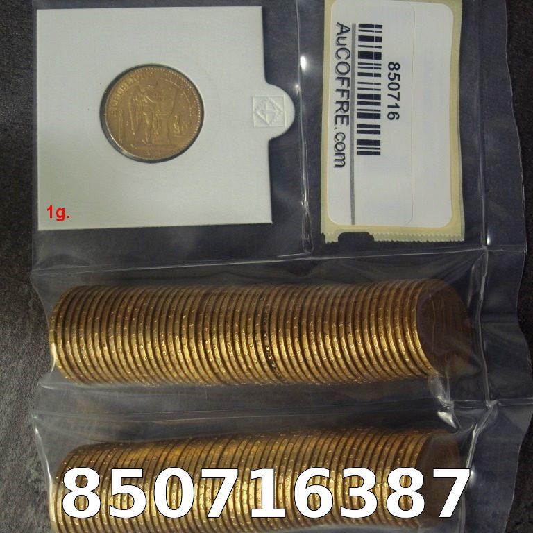 Réf. 850716387 1 gramme d\'or pur - Napoléon (LSP) 20 Francs Issu d un lot de 100 Génie IIIème République - AVERS