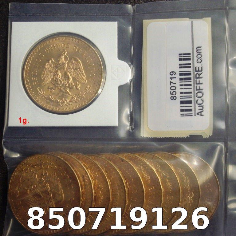 Réf. 850719126 1 gramme d\'or pur - 50 Pesos Mexique (LSP)  Issu d un lot de x10 50 Pesos - AVERS