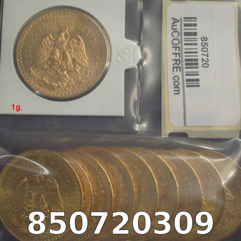 Réf. 850720309 1 gramme d\'or pur - 50 Pesos Mexique (LSP)  Issu d un lot de x10 50 Pesos - AVERS
