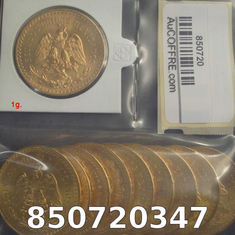 Réf. 850720347 1 gramme d\'or pur - 50 Pesos Mexique (LSP)  Issu d un lot de x10 50 Pesos - AVERS