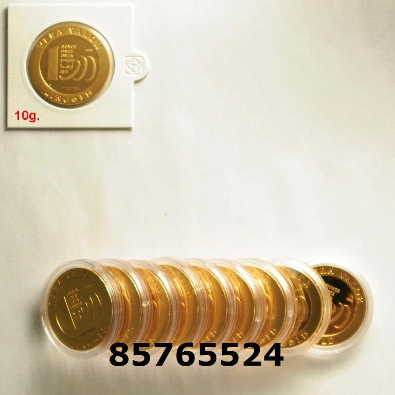 Réf. 85765524 10 grammes d\'or pur - Vera Valor (LSP)  Issu d un lot de 10 Vera Valor 1 once - AVERS