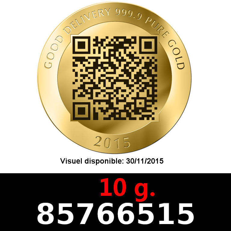 Réf. 85766515 10 grammes d\'or pur - Vera Valor (LSP)  Issu d un lot de 10 Vera Valor 1 once - AVERS