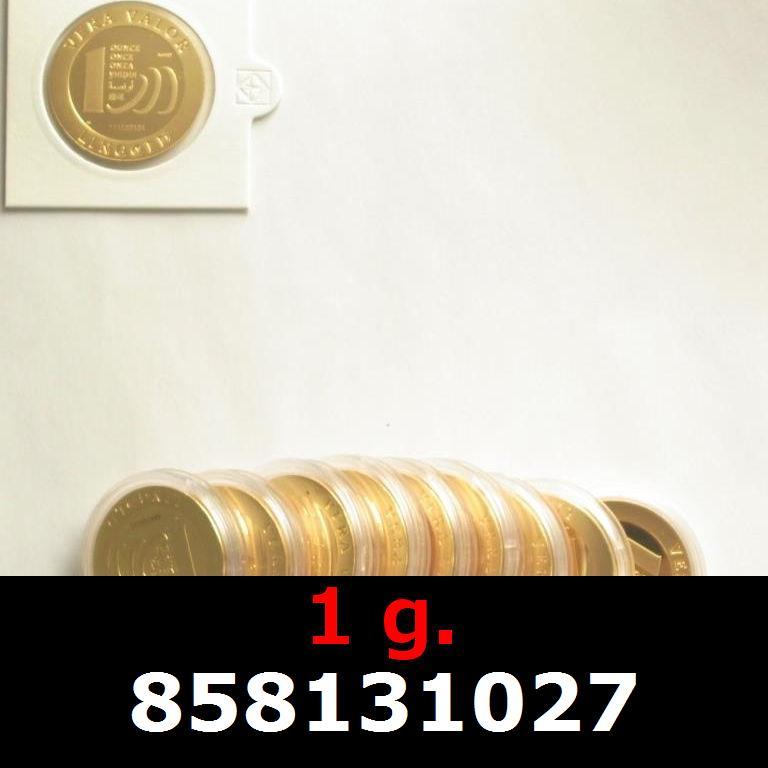 Réf. 858131027 1 gramme d\'or pur - Vera Valor (LSP)  Issu d un lot de 10 Vera Valor 1 once - AVERS