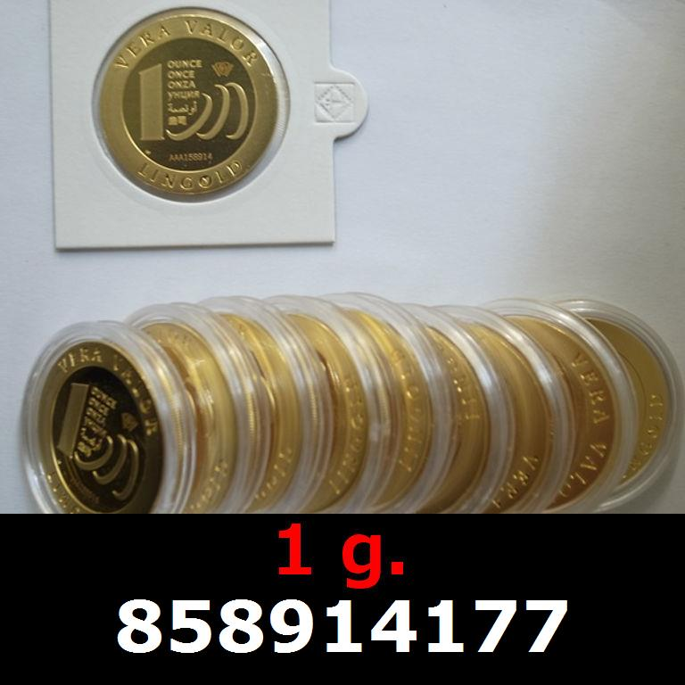 Réf. 858914177 1 gramme d\'or pur - Vera Valor (LSP)  Issu d un lot de 10 Vera Valor 1 once - AVERS